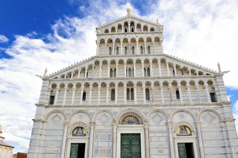 比萨风景视图大教堂,托斯卡纳,意大利 免版税库存图片