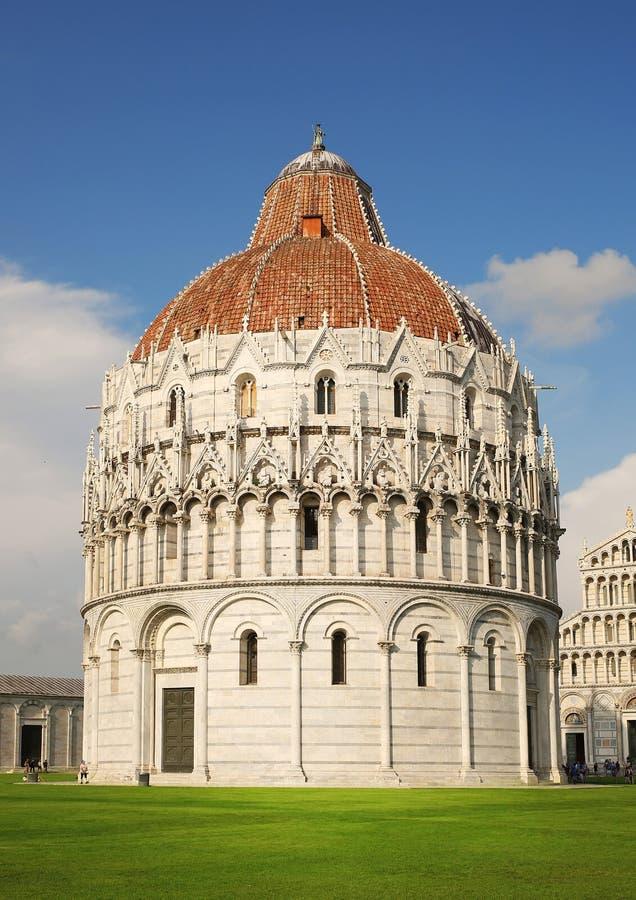 比萨 洗礼池大教堂,意大利 库存照片