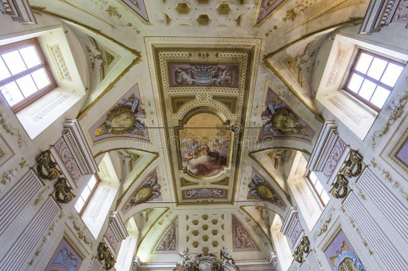 比萨charterhouse,比萨,意大利内部和细节  图库摄影