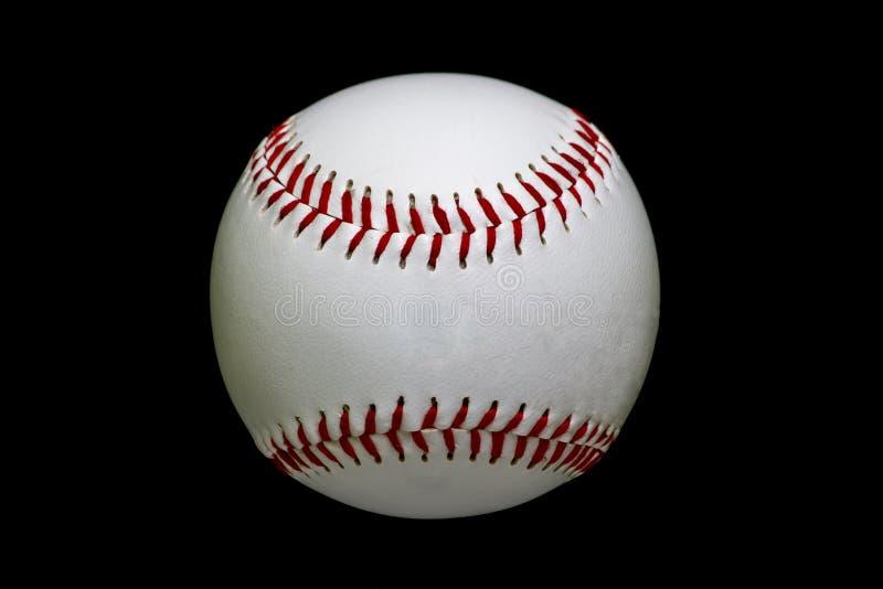 比赛半新白色棒球 免版税库存图片