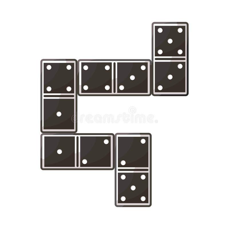 比赛和多米诺标志的传染媒介例证 比赛和块股票的传染媒介象的汇集 库存例证