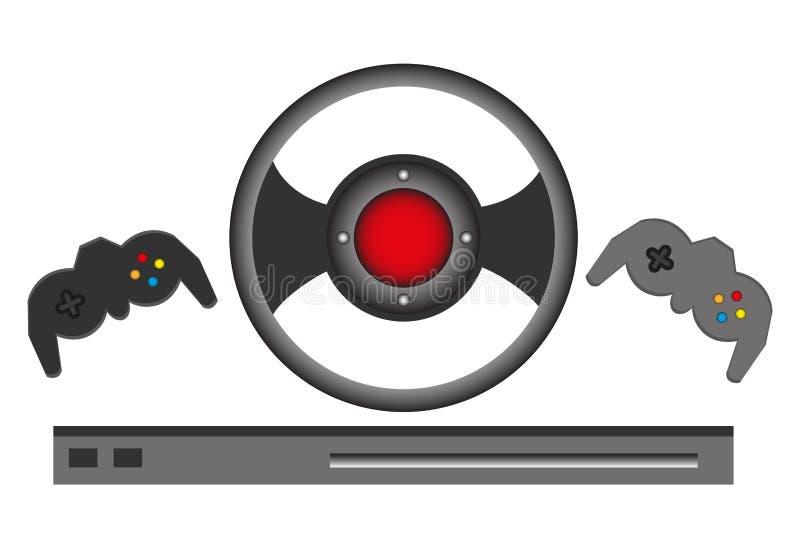 比赛控制器集合 库存例证