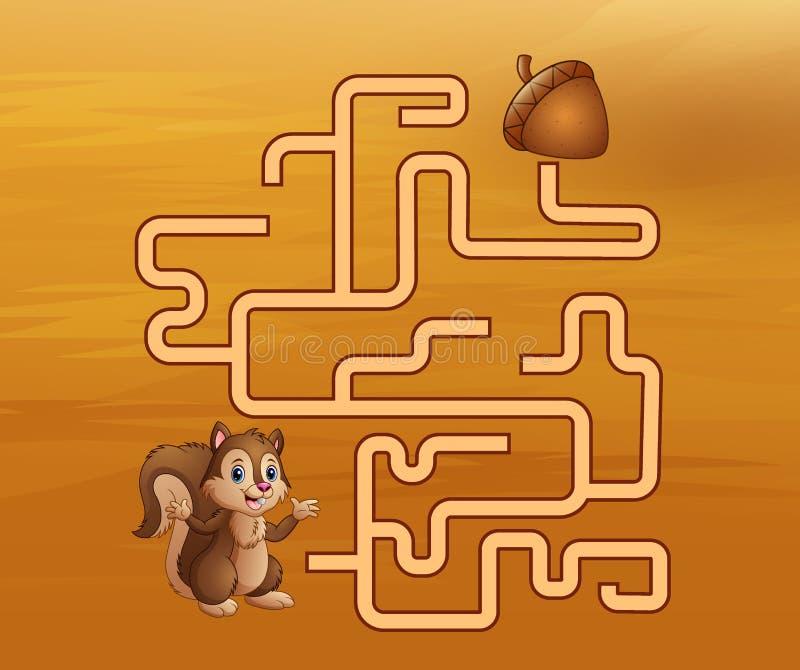 比赛灰鼠迷宫寻找他们的道路对核桃 皇族释放例证