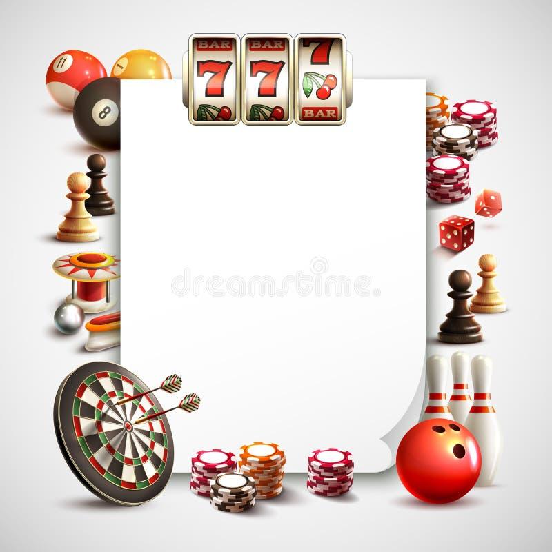 比赛现实框架 向量例证