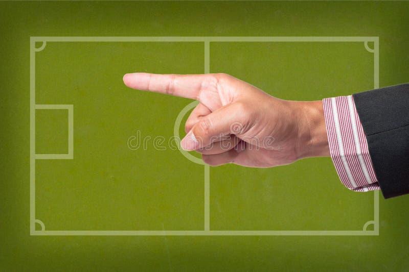 比赛现有量点足球 图库摄影