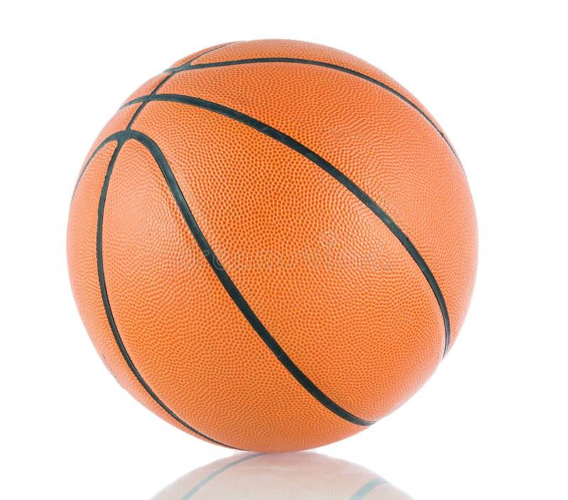 比赛的球在篮球孤立 免版税库存图片