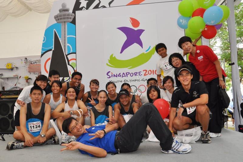 比赛组生成徽标奥林匹克照片青年时&# 免版税图库摄影