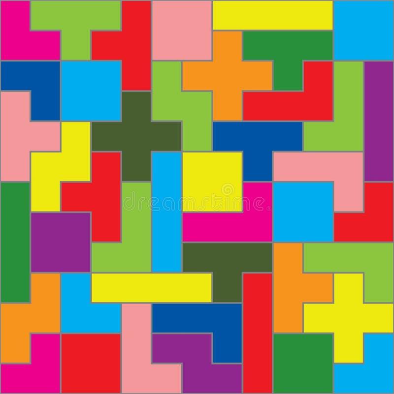 比赛编结tetris 库存例证