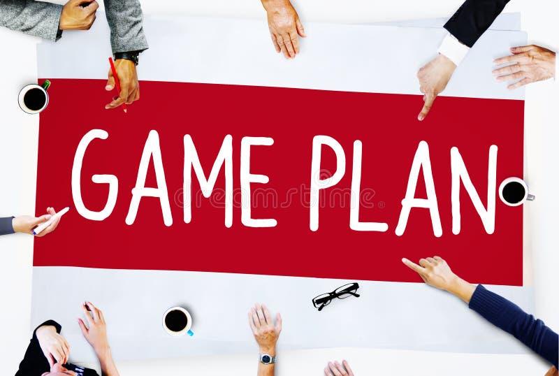 比赛计划战略战术计划视觉概念 免版税库存图片