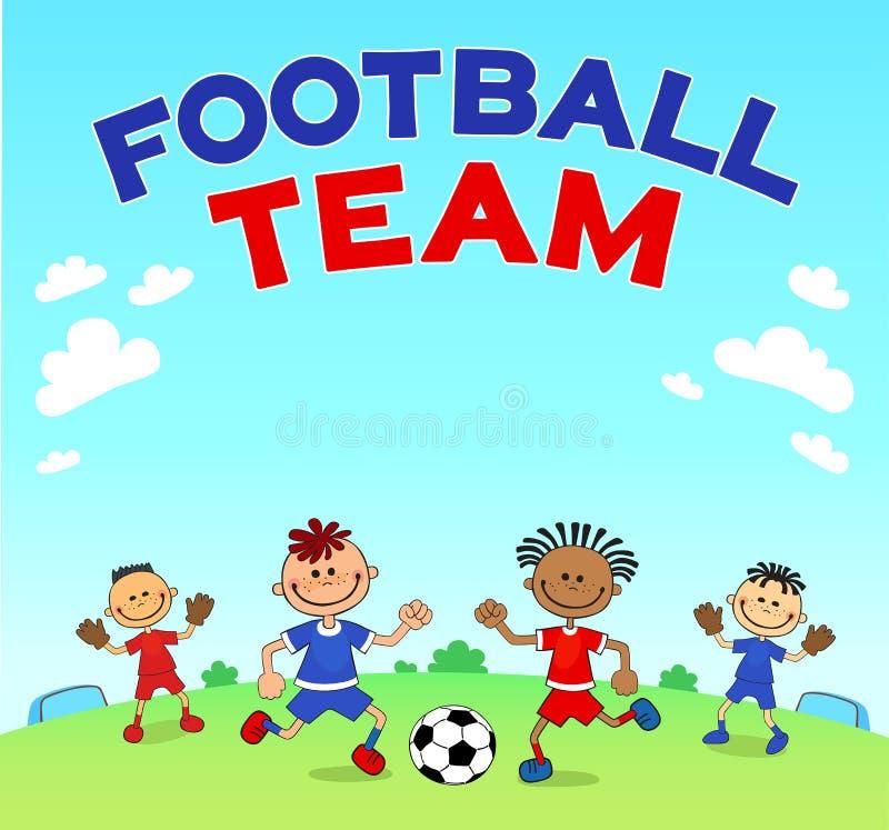 比赛足球 踢在运动场的男孩足球 漫画人物球员足球体育运动.图片