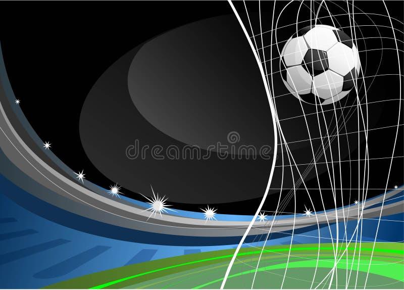 比赛足球 皇族释放例证