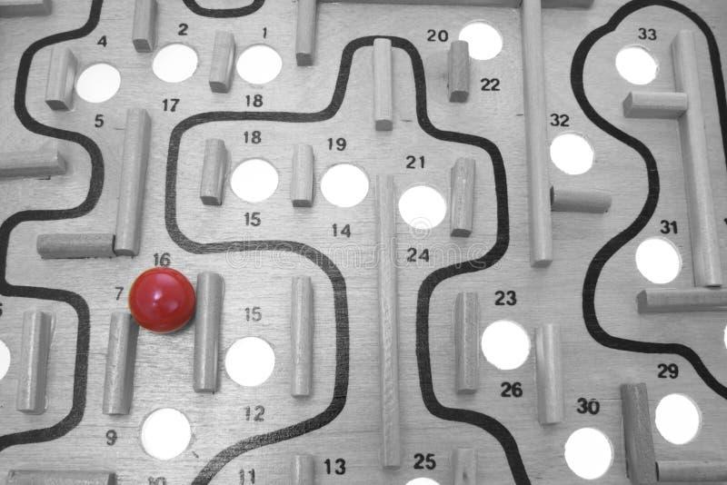 比赛迷宫 免版税库存图片