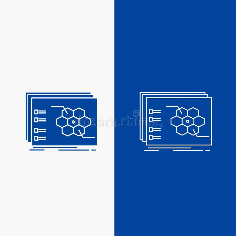 比赛,战略,战略、战术,作战线和纵的沟纹网按钮在蓝色垂直的横幅UI和UX的,网站或 库存例证