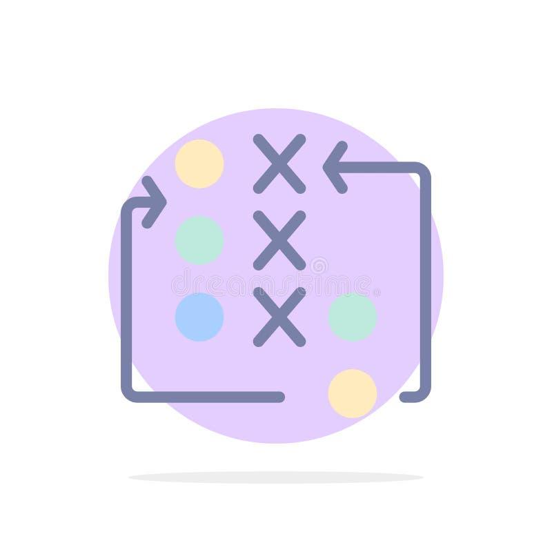 比赛,移动,战略,战术,作战抽象圈子背景平的颜色象 皇族释放例证