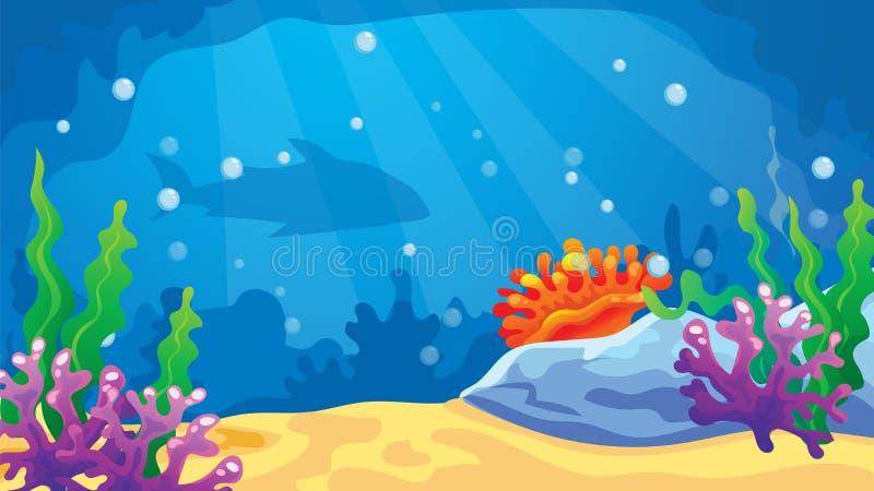 比赛水下的世界背景 免版税库存照片