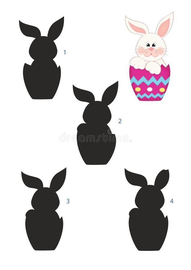 比赛阴影,兔子 库存例证