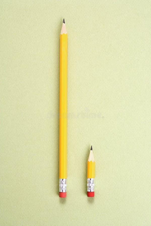 比较铅笔 免版税库存照片