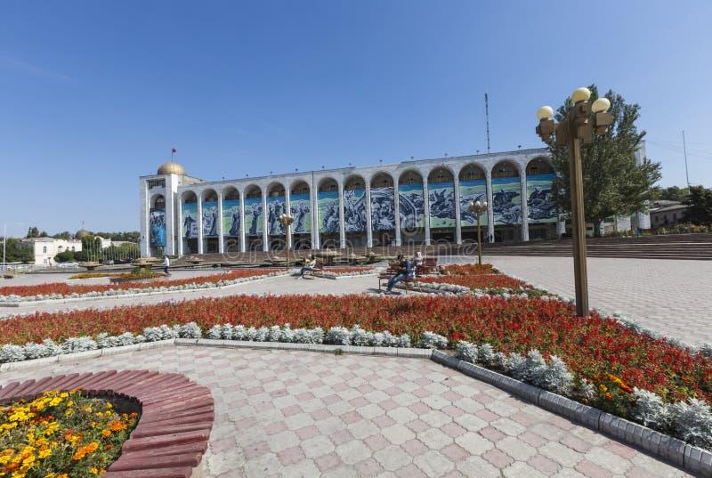 比什凯克,吉尔吉斯斯坦- 2015年9月27日:丙氨酸太正方形 Bishke 免版税库存图片