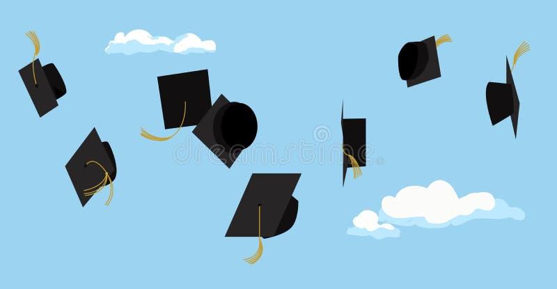 毕业典礼 学生庆祝 向量 皇族释放例证