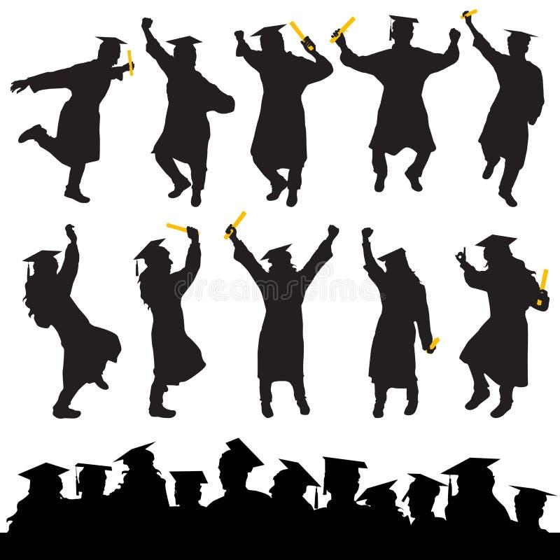 毕业向量 库存例证