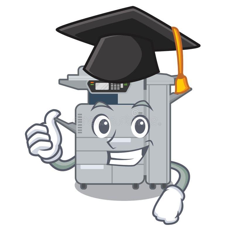 毕业在动画片隔绝的影印机机器 皇族释放例证