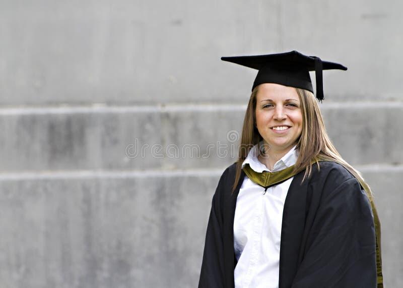 毕业她的学员 免版税库存图片