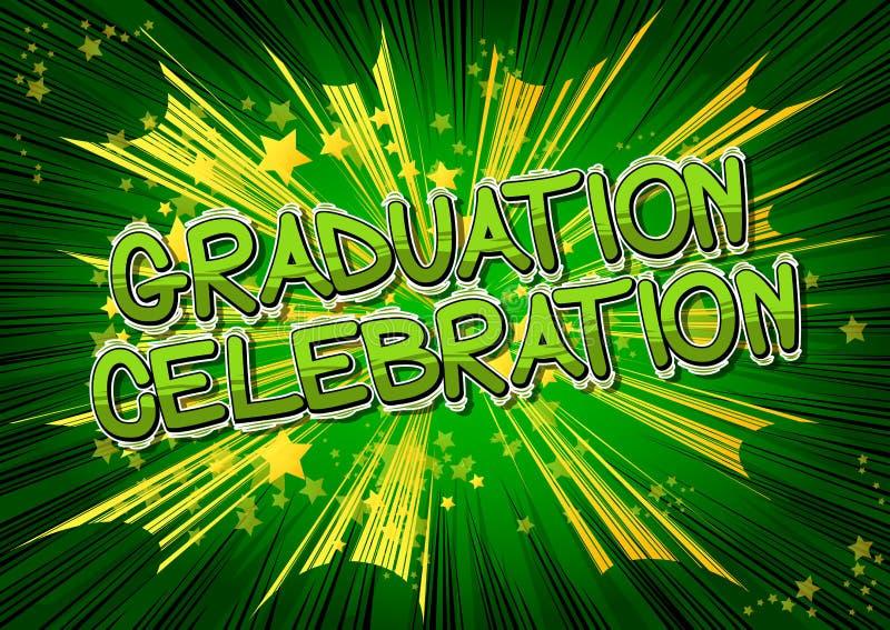 毕业庆祝-漫画书样式词 皇族释放例证