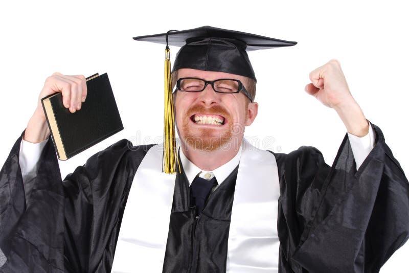 毕业愉快的人年轻人 免版税库存照片