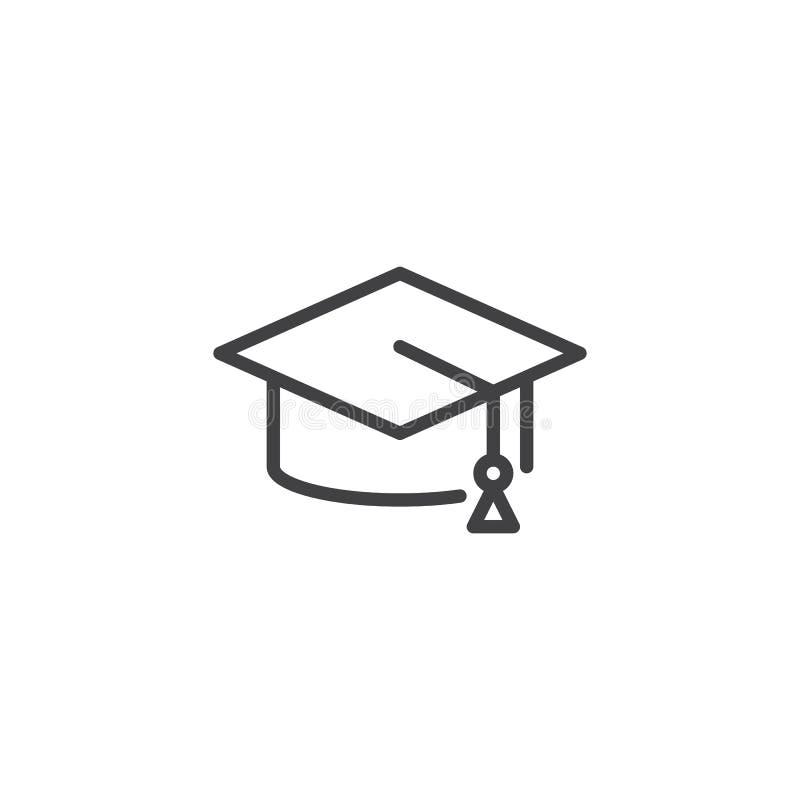 毕业生帽子概述象 库存例证