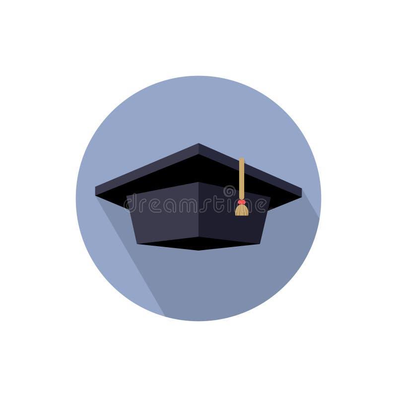毕业生盖帽,颜色被隔绝的图象 皇族释放例证