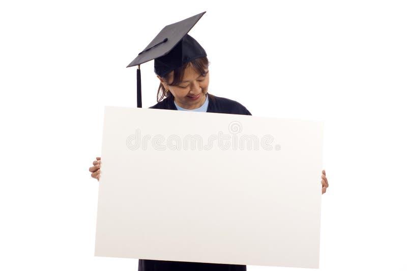 毕业生符号 免版税库存照片