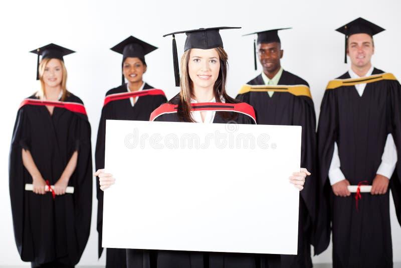 毕业生藏品白板 免版税库存照片