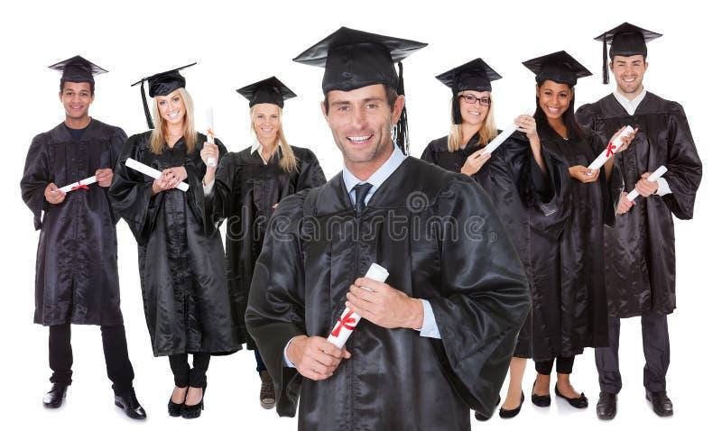 毕业生组学员 库存照片