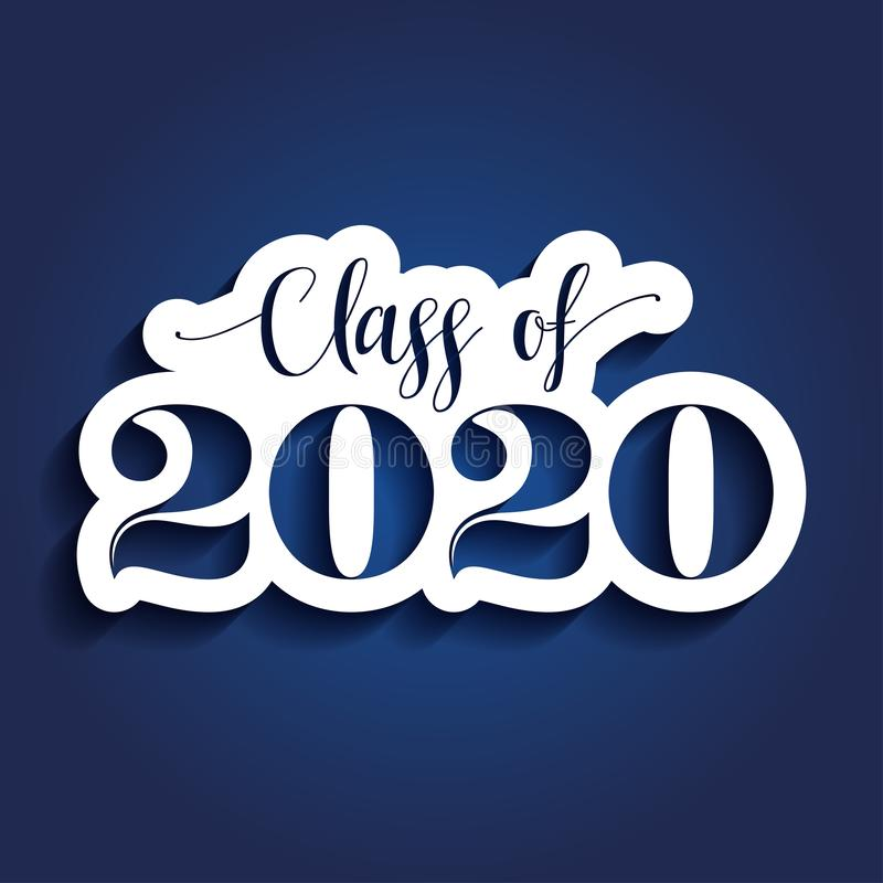 毕业生2020的祝贺类  向量例证