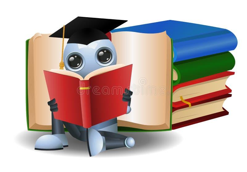 毕业的一点机器人阅读书 皇族释放例证