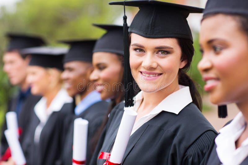 毕业的毕业生 库存照片