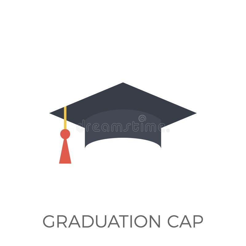 毕业盖帽象传染媒介 皇族释放例证