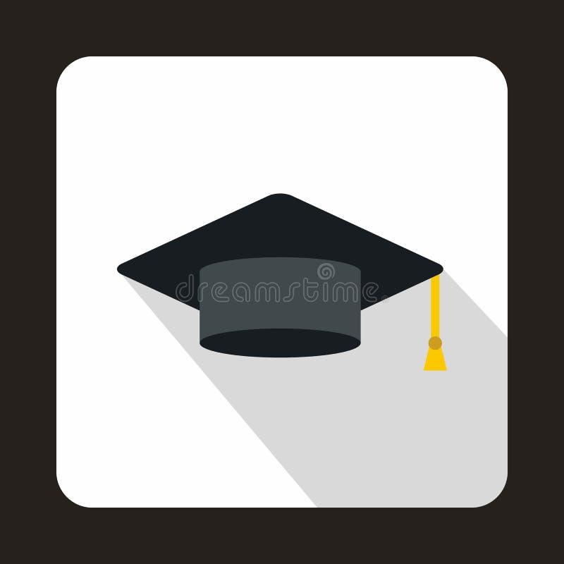 毕业盖帽象,平的样式 皇族释放例证