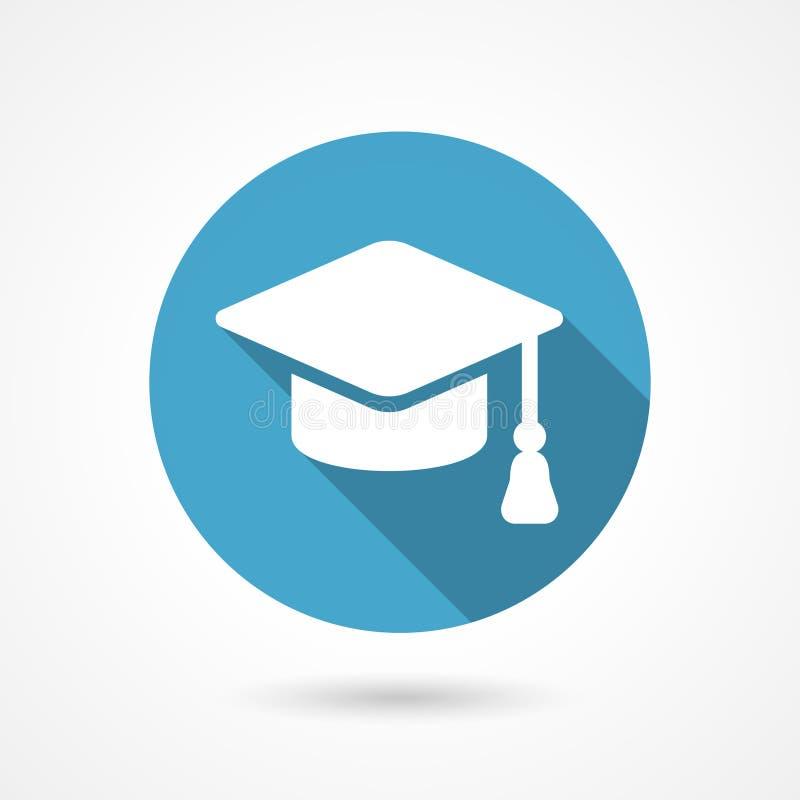 毕业盖帽象 向量例证