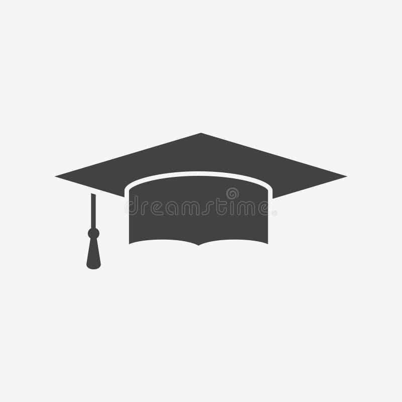毕业盖帽黑白照片象 皇族释放例证