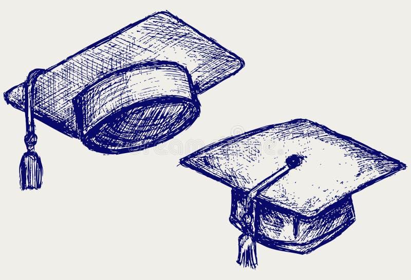 毕业盖帽 向量例证