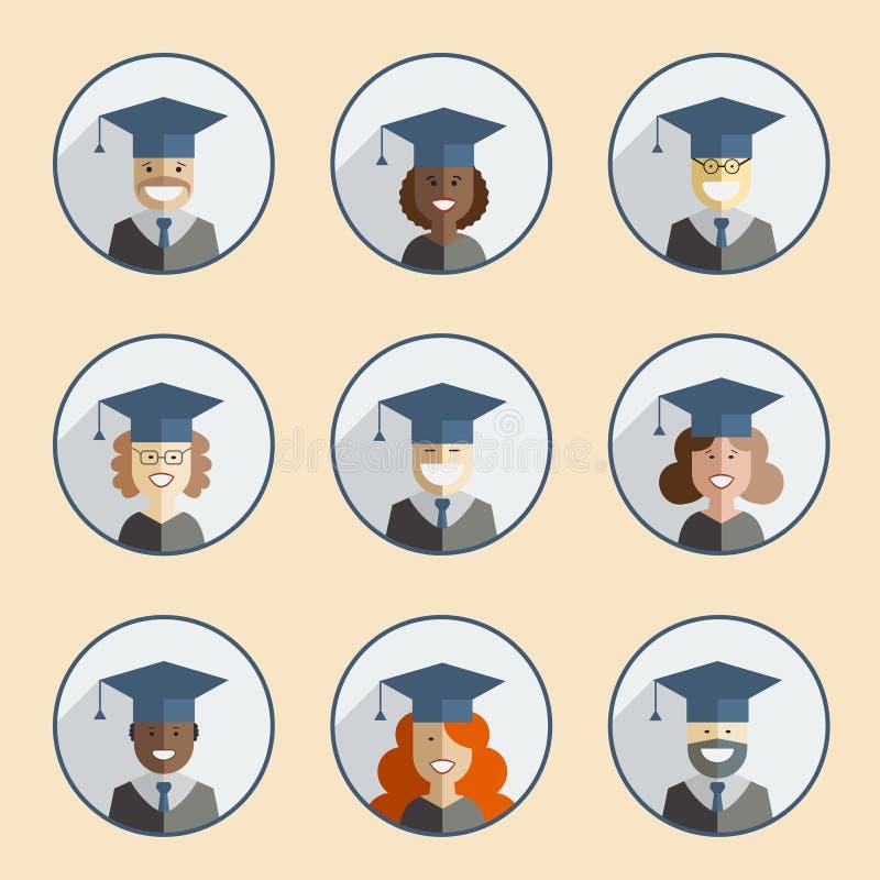 毕业象集合 向量例证