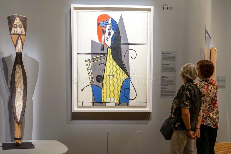 毕加索和非洲艺术在蒙特利尔 免版税库存图片