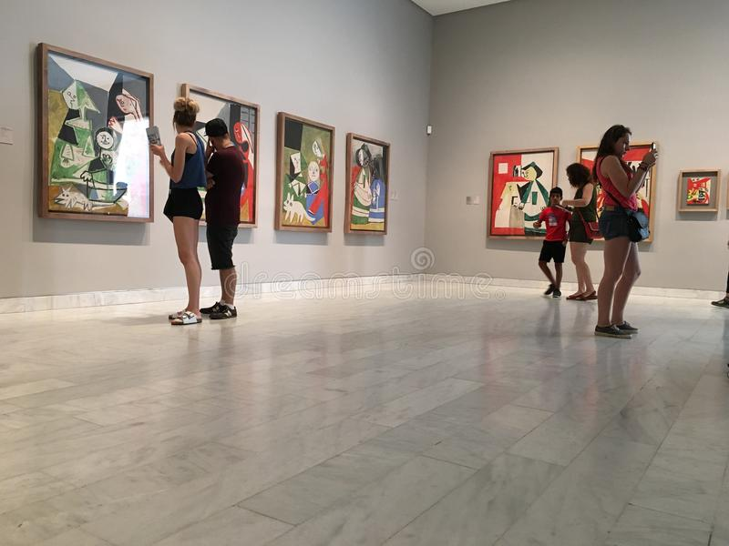 毕加索博物馆巴塞罗那 免版税图库摄影