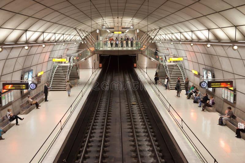 毕尔巴鄂地铁车站 免版税库存照片