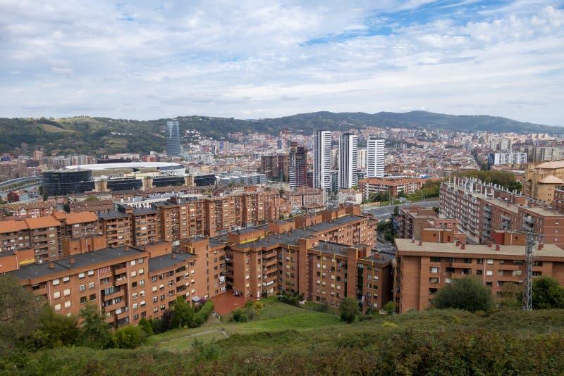 毕尔巴鄂,西班牙城市视图  图库摄影