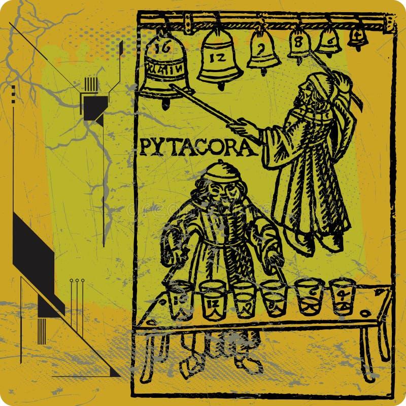 毕达哥拉斯 向量例证