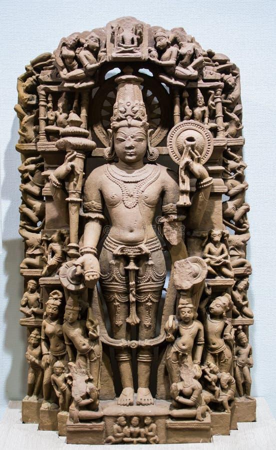 毗湿奴Chakradhari Standing阁下形式神象印度 免版税库存图片