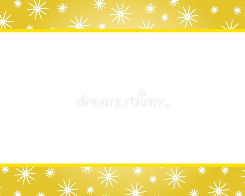 毗邻圣诞节金子 向量例证