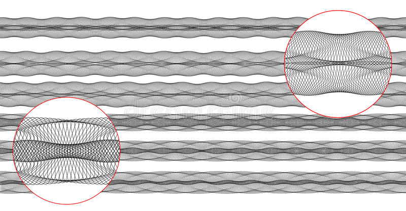毗邻扭索状装饰向量 库存例证